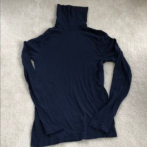 J. Crew navy tissue turtle neck M